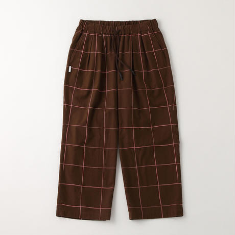 S.F.C WIDE PANTS (Check) Chocolate / Pink Check【SFCFW21P03】(N)
