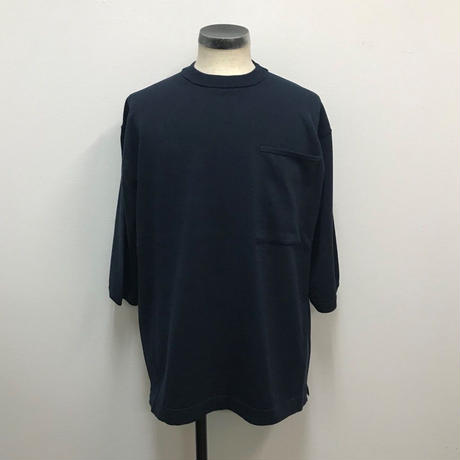 crepuscule クレプスキュール  Pocket Knit Tee 3/4 1801-006 Navy(N)