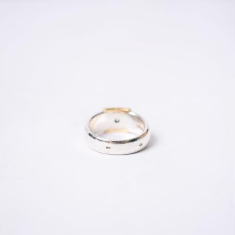 Hermès Vintage(エルメス ヴィンテージ) Colorless Saphire Ring【Hermès ‑ R569】14号(N)