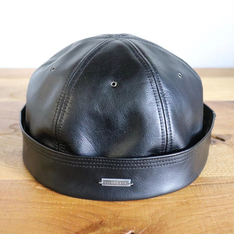 SOLARIS HATMAKERS & Co. KIPPA MONTANA BLACK-COW HIDE【SH19SS-09】(N)