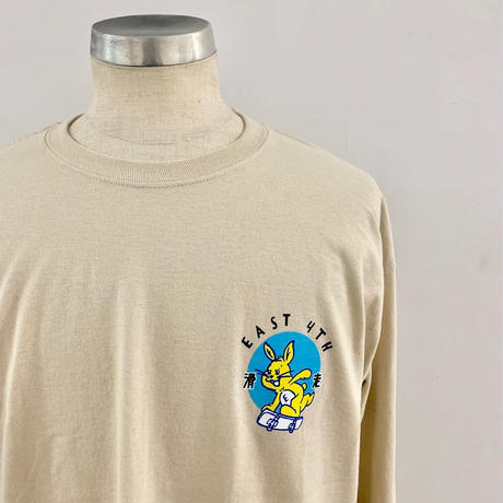 EAST 4TH SKATE BUNNY L/S TEE SAND