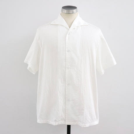 SOWBOW  SBSH01S-1  蒼氓シャツA  ONE PIECE COLLAR SHIRT S/S WHT(N)