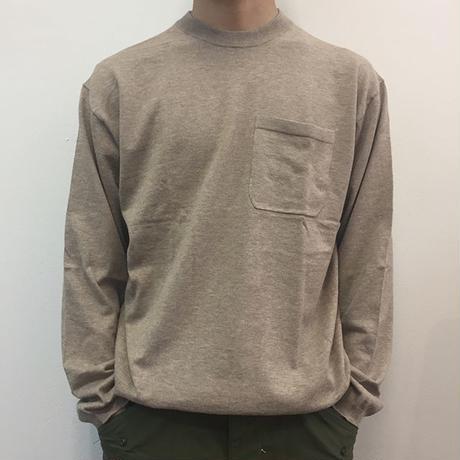 crepuscule クレプスキュール  knit tee L/S 1801-007 Beige