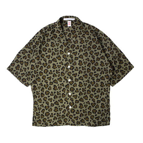ChahChah チャーチャー HEART LEOPARD CHILL SHIRTS OLIVE【CC21SS-SH02】(N)