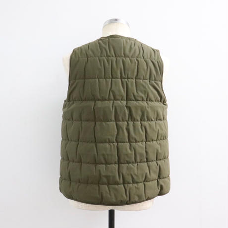 STUDIO NICHOLSON スタジオニコルソン TECHNICAL COTTON QUILTED LINER VEST OLIVE【SNM-068】(N)