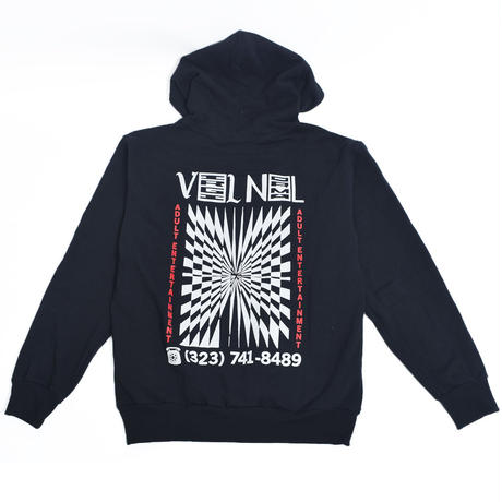 VIRGIL NORMAL バージルノーマル 【VVN053】MEMORIES OF ROCKETS HOODIE BLACK