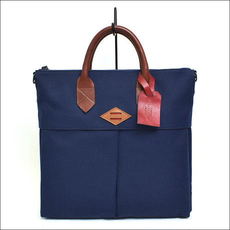 【SALE】LEON FLAM(レオンフラム)SAC 21H Waxed Canvas Blue Navy