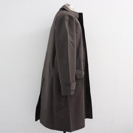 STUDIO NICHOLSON スタジオニコルソン TECHNICAL COTTON CAR COAT/VEST DARK BROWN/CREAM【SNM-059/068】