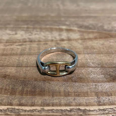 Hermès Vintage(エルメス ヴィンテージ)Stering Silver & 18k Gold Ring【19SS_3VH13】(N)