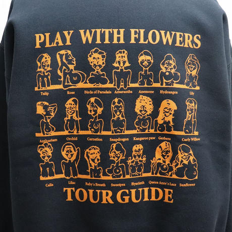 SEE SEE PLAY WITH FLOWER SWEAT BLACK
