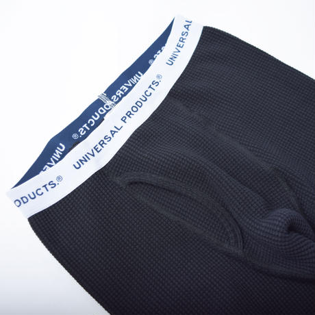 UNIVERSAL PRODUCTS. MIDDLE WAFFLE BASE LAYER PANTS BLACK【213-60508】(N)