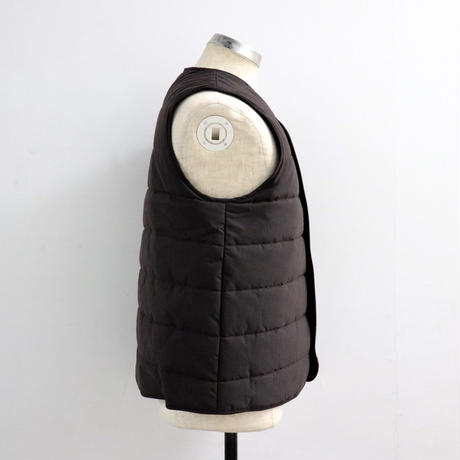 STUDIO NICHOLSON スタジオニコルソン TECHNICAL COTTON QUILTED LINER VEST DARK BROWN【SNM-068】(N)