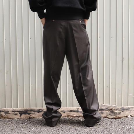 mfpen(エムエフペン) CLASSIC TROUSERS PINSTRIPE BLACK【AW20-32】