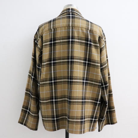 loomer ルーマー Pima Cotton Alpaca Pajama Shirts Camel Check【PR19AW-PJ007-2】