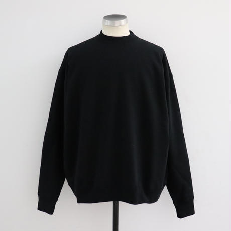 EASTFAREAST(イーストファーイースト) MODEL002 BALOON MOCKNECK BLACK(N)