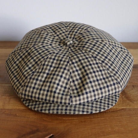 SOLARIS HATMAKERS & Co. CLASSIC CASQUETTE OLDBOY KHAKI CHECKED【SH19SS-08】(N)