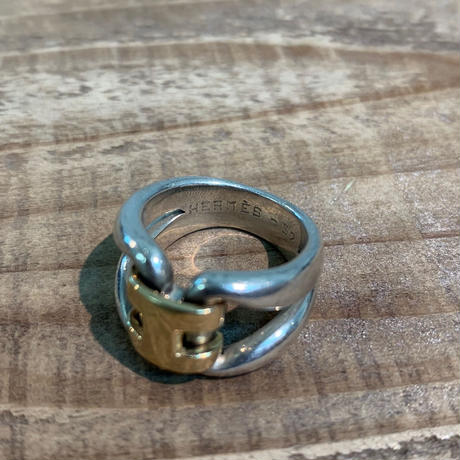 Hermès Vintage(エルメス ヴィンテージ) Sterling Silver & 18k Gold Ring【VH10】(N)