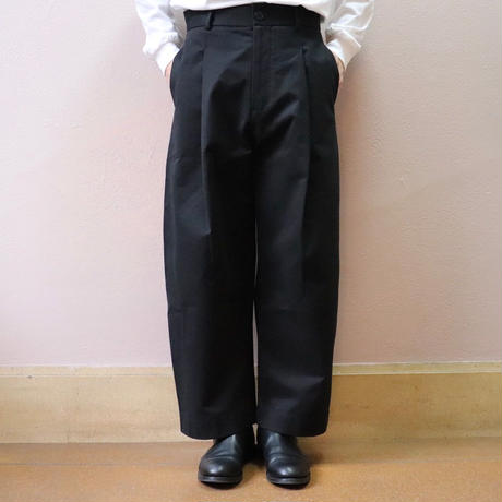 STUDIO NICHOLSON スタジオニコルソン BRIDGES  PANT BLACK【SN-132】(N)