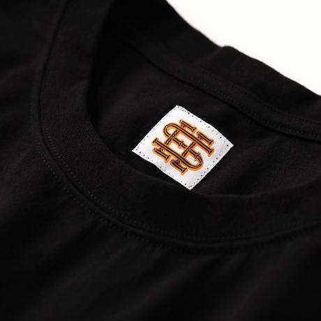 SEE SEE 逆プリ ロゴ ロンT BLACK