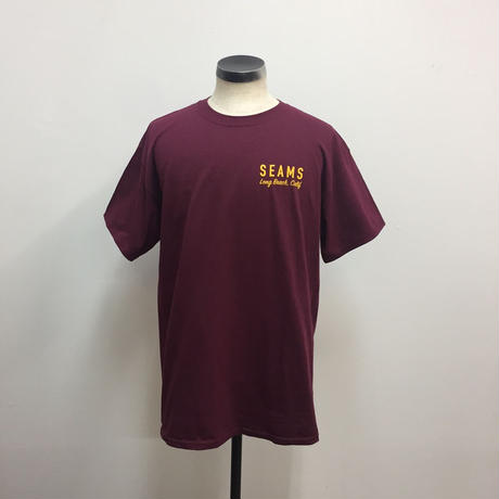 Seams Garage Tee Maroon