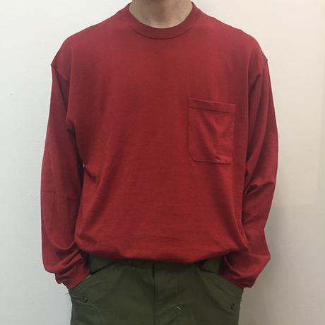 crepuscule クレプスキュール  knit tee L/S 1801-007 Red(N)