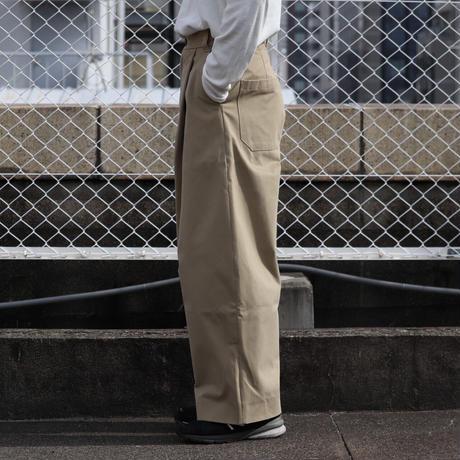 STUDIO NICHOLSON スタジオニコルソン SORTE PEACHED COTTON TWILL VOLUME PLEAT PANTS TAN【SNM-351】(N)