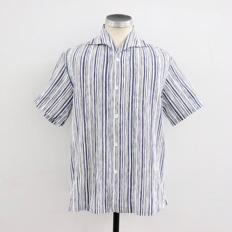 SOWBOW  SBSH01S-5C  蒼氓シャツA  ONE PIECE COLLAR SHIRT S/S BLUE UNEUNE(N)
