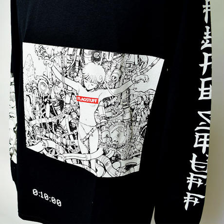 "FLAGSTUFF×電影少女  ""PLAY"" L/S TEE Black【19SS-FSxVG-03】"