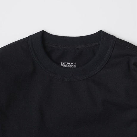 EASTFAREAST(イーストファーイースト) MODEL008 SHORT SLEEVE TEE BLACK(N)
