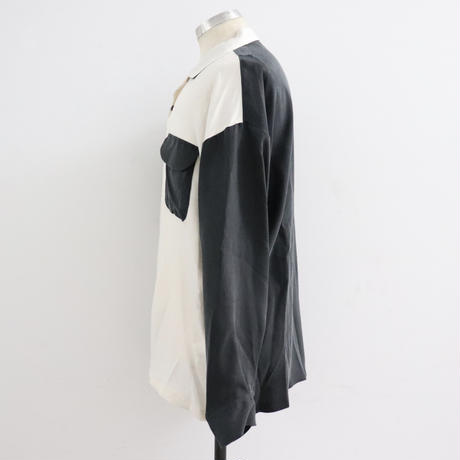 SOLARIS&Co.(ソラリスアンドコー) OPEN COLLOR SHIRT White&Black【19AW02005】(N)