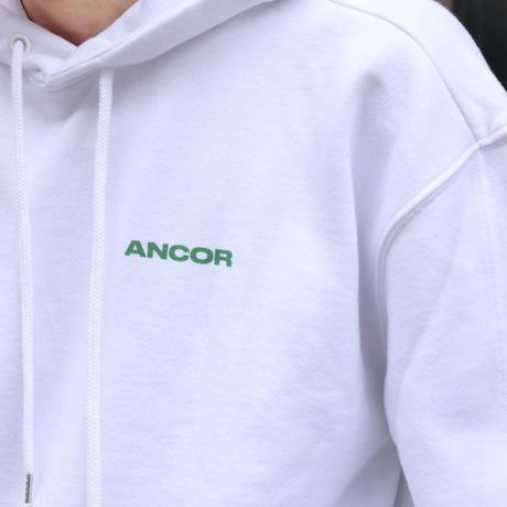 ANCOR(アンカー) SWEATSHIRTS HOODIE BLANC WHITE