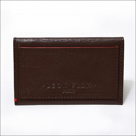 【SALE】LEON FLAM(レオン フラム) DOUBLE PORTE CARTE BROWN