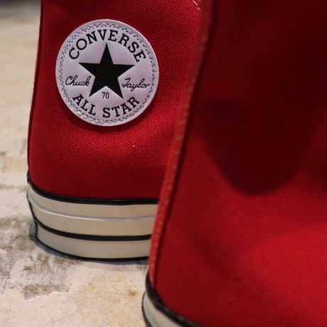 CONVERSE コンバース CHUCK TAYLOR ALL STAR '70-HI ENAMEL RED/EGRET/BLACK 164944C CT70