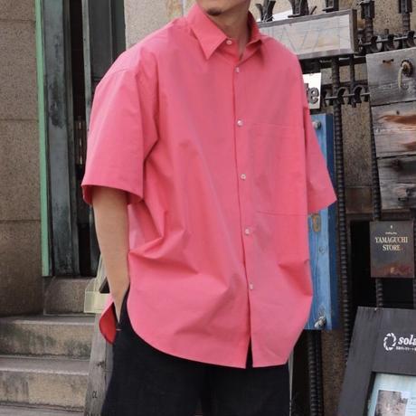 STUDIO NICHOLSON スタジオニコルソン POWDER COTTON OVERSIZED SHORT SLEEVE SHIRT BARRAGAN PINK【SNM-085】