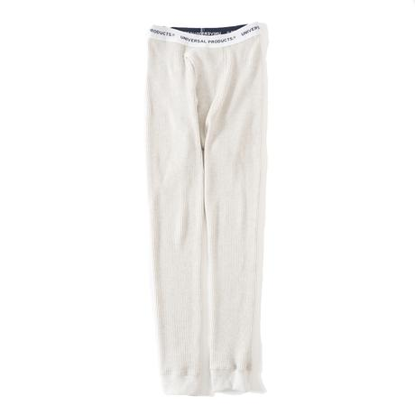 UNIVERSAL PRODUCTS. MIDDLE WAFFLE BASE LAYER PANTS OATMEAL【213-60508】(N)