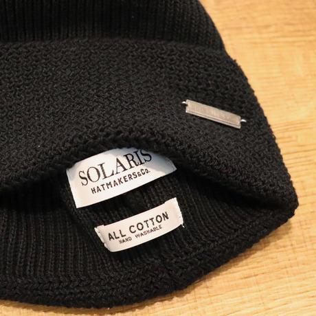 SOLARIS HATMAKERS & Co.  COTTON WATCH CAP HUNTER/BLACK【SH19SS-01】(N)
