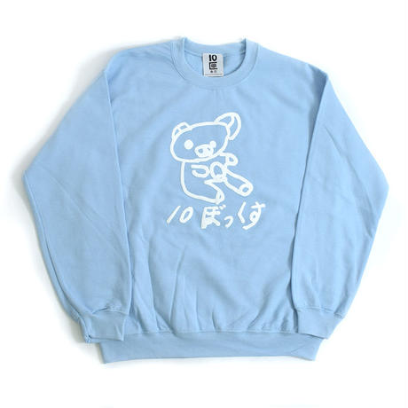 TEN BOX(テンボックス) N  ANRELAX KUMA SWEAT  (LT.BLUE)