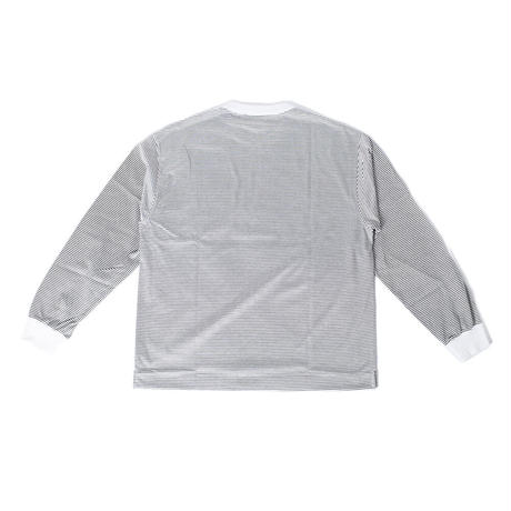 UNIVERSAL PRODUCTS.  BORDER L/S WHITE【213-60103】(N)