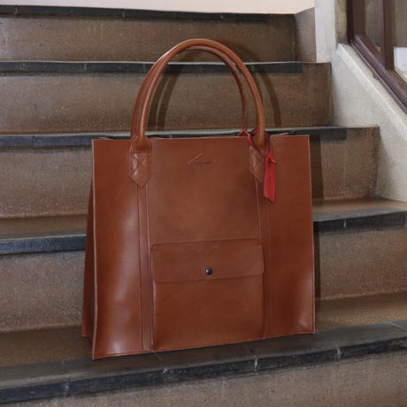 LEON FLAM(レオンフラム)LEATHER TOTE BAG  GOLD