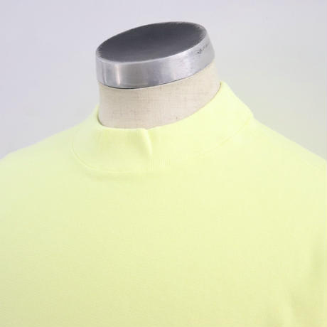 EASTFAREAST(イーストファーイースト) MODEL007XX REVERSE WEAVE MOCKNECK  Lemonade(N)