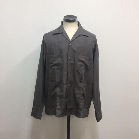 UNITUS(ユナイタス) SS18 Cuba Shirts Grey【UTSSS18-S02】(N)
