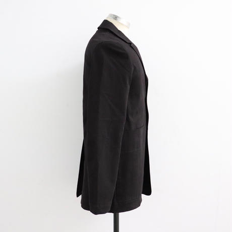 STUDIO NICHOLSON スタジオニコルソン SOFT PEACHED TWILL BLUFF POCKET TWILL JACKET DARK BROWN【SNM-036】(N)