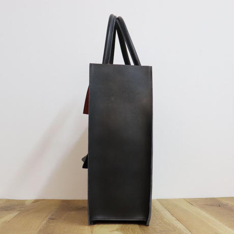 LEON FLAM(レオンフラム)LEATHER TOTE BAG  BLACK