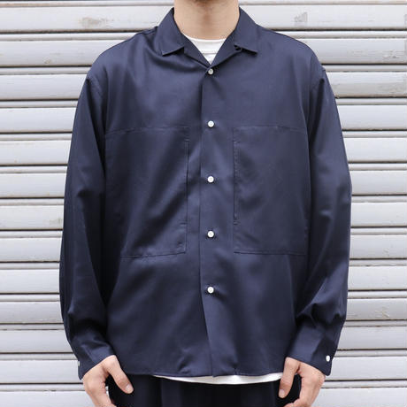 UNITUS(ユナイタス) SS20 Open Collar Shirt  Navy【UTSSS20-S03 】(N)