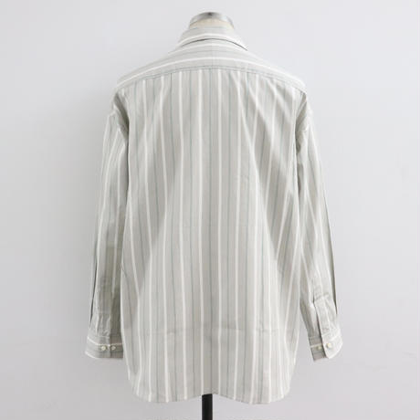 UNITUS(ユナイタス) Patch and Flap Shirt Beige Stripe/STUDY SHOWROOM STORE 別注カラー【UTSSS19-S05SS】(N)