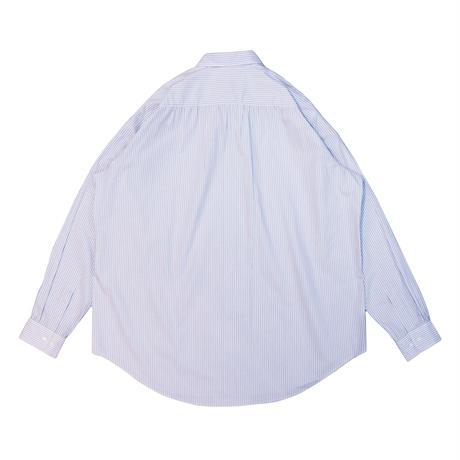UNITUS(ユナイタス) Super Large Shirt (Stripe) Sax × White【UTSSS21-S04】(N)