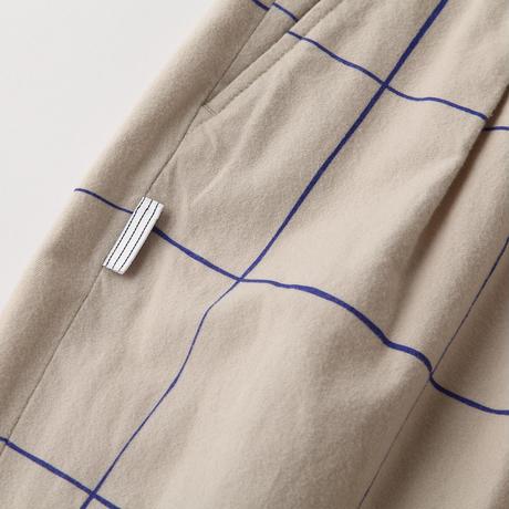 S.F.C WIDE PANTS (Check) Beige / Blue Check【SFCFW21P03】(N)