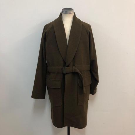 UNITUS(ユナイタス) FW17 Belted Shawl Coat Olive (Boucle Wool)【UTSFW17-J03】