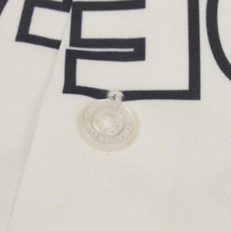 PE総柄プリント オープン  カラーシャツ (ストリート) 0343104-01(01ホワイト)