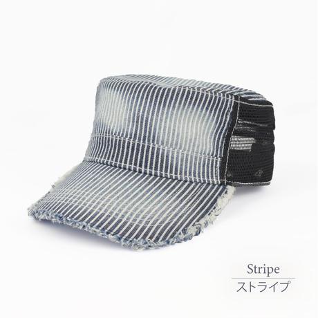 ワーク・メッシュキャップ 0683805-68(ストライプ)